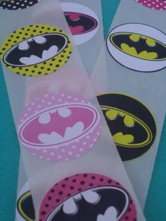 Batman Birthday Party 1.5 inch stickers - Perfect for party favors, birthday decor, etc. - You choose the theme on Etsy, $5.00