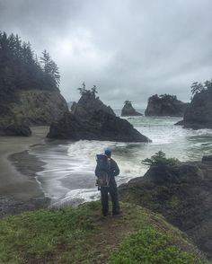 Hiking on the Oregon Coast Trail with my baby girl today #HikeOregon #oregoncoasttrail #oregoncoast #keepitwild #thepeoplescoast #itsadaddyslife by ghost_rogue
