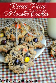 Grab your cookie sheets and head to the kitchen! This Reeses Pieces Monster Cookie recipe is calling you! Sweet, peanut buttery and oh so very good!