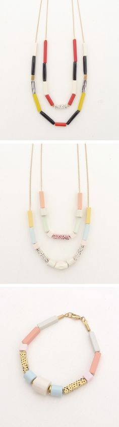 Polymer clay necklaces & bracelet