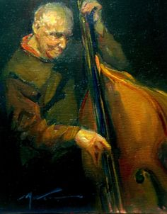 """AND THE BEAT GOES ON..... by F. Michael Wood Oil ~ 10"""" x 8"""""""