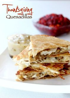 Here's our new favorite way to use our Thanksgiving leftovers! There's a secret to getting the quesadillas extra crispy...