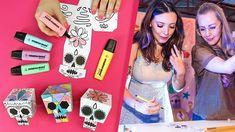 DIY Papercraft de Caveira  Conecta Fun com Taciele Alcolea | Stabilo Make Your Own, Make It Yourself, Vlog, Diys, Diy Paper, Videos, Youtube, Diy Projects, Diy Crafts