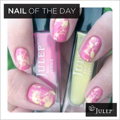 I wouldn't use these colors, but I really like the idea of splattering nail polish. It looks a bit Pollock-esque.
