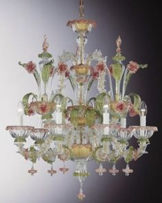 venice italy murano glass chandilers | ... Italian Art Glass from ...
