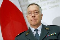Switzerland's Chief of Armed Forces Lieutenant General Blattmann attends a news conference in Bern
