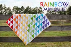 FRainbow Baby Quilt - Free Quilt Tutorial