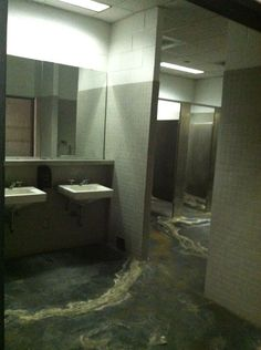 The Astros old bathroom