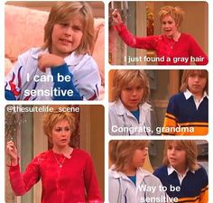 "It's amazing how this actress went from ""Zach and Cody's Mom"" in my mind to ""Sheriff Jodie Mills"" in like five years. The Suite Life of Zack and Cody Zack Et Cody, Cody Tv, Zack And Cody Funny, Suit Life On Deck, Funny Memes, Hilarious, Jokes, Funny Videos, Funny Quotes"