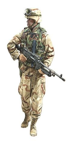 Soldado ametrallador, US Marine Corps, Irak, 2003.