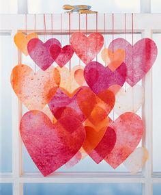 DIY Valentines -Corações de papel