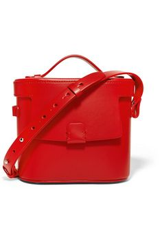 Red leather (Calf) Snap-fastening front flap Weighs approximately 1.3lbs/ 0.6kg Made in Italy