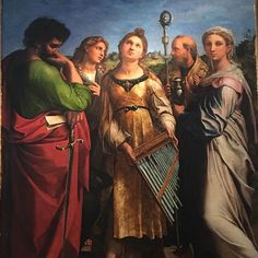 Today in Bologna! Santa Cecilia by #raphael #itsflorenceontour #itsflorence #pinacotecadibologna #raffaello #art #paintings #renaissance February 09 2018 at 01:59PM