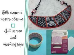 Silk screen e nastro adesivo - Silk screen and masking tape - Polymer clay tutorial - YouTube
