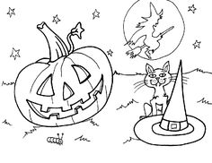 Halloween Coloring Pages Holidays Halloween, Halloween Crafts, Halloween Coloring Pages, Holiday Fun, Printables, Activities, Party, Kids, Craft Ideas