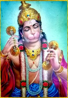 Hanuman is a Hindu god, who was an ardent devotee of Rama according to the Hindu legends. He is a central character in the Indian epic Ramayana and its various versions. He also finds mentions in several other texts, including Mahabharata, the various Puranas and some Jain texts. A vanara (monkey-like humanoid), Hanuman participated in Rama's war against the demon king Ravana. Several texts also present him as an incarnation of Lord Shiva.