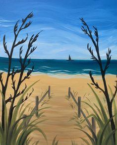 Beach Stroll Paint And Sip, Paintings, Studio, Beach, Art, Art Background, Paint, The Beach, Painting Art