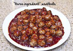 Three Ingredient Meatballs