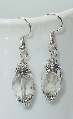 Stunning Swarovski Crystal Silver Shade Drop Earrings