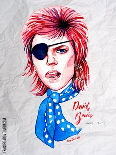 fransification:    RIP David Bowie. Forever in our hearts   I effing love the way you found a living David Bowie in your rendition of Ziggy. Thank you for shouting out to us all that Bowie is everything! He is very much alive in you obviously. I thought there were only his close friends who mostly will be the ones keeping his personal self alive. Sure people will love his art; music painting and other fine arts and his warm side his humor his love and look at his eyes in your work! I love…