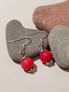 The latest addition to my #etsy shop: Red Coral Earrings, Sterling Silver, Small Drop, Valentines Gift, Handmade, Coral Earrings http://etsy.me/2CtPLMg #jewellery #earrings #coral #women #stone #earlobe #redcoralearrings #sterlingsilver #smalldrop