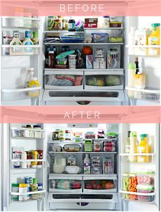 Organized Counter Depth Fridge & Freezer Drawer with Tips and Favorite Products