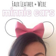 Cute minimalist Minnie ears for the upcoming vacation!