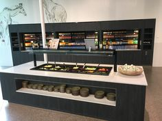 Restaurant Plan, Restaurant Design, Cafe Interior Design, Interior Decorating, Bakery Shop Design, Service Counter, Buffets, Retail, Mint