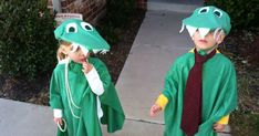 Franny announced back in July or August that she wanted an alligator costume for Halloween. I wasn't sure how we were goin...