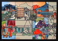 """Untitled"" x Acrylic on board marouflé Acrylic Art, Mauritius, Wall Art, Canvas, Board, Artist, Mauritius Island, Tela, Artists"