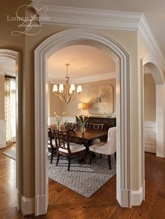 Dining Room-- love everything about it, down to the paint color