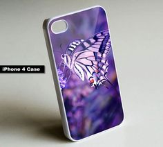 Purple Butterfly - iPhone 4 Case, iPhone 4s