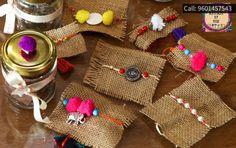 lovely rakhis at Cocoa Drama Creative Gift Wrapping, Creative Gifts, Creative Art, Diya Decoration Ideas, Handmade Decorations, Decor Ideas, Rakhi Bracelet, Handmade Rakhi Designs, Rakhi Cards