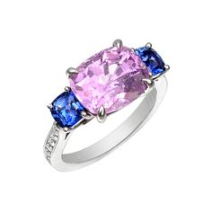 Paolo Costagli Pink Sapphire & Blue Sapphire Ring