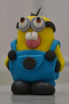 Minion Cupcake Topper Minion Cupcake Toppers, Minion Cupcakes, Birthday Cupcakes, Fondant Minions, Custom Cupcakes, Desserts, Food, Anniversary Cupcakes, Personalised Cupcakes