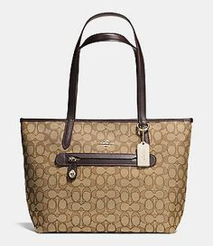 aa096e7e2dcf COACH TAYLOR TOTE IN SIGNATURE JACQUARD Crochet Bags