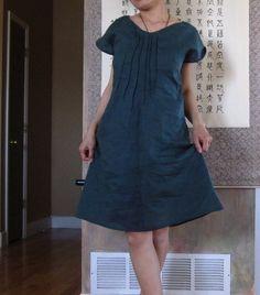 emerald linen seashell dress custom fit petite to plus size