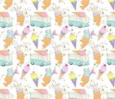 Ice Cream 006 fabric by koko_bun on Spoonflower - custom fabric Design Design, Fabric Design, Custom Design, Cute Wallpaper Backgrounds, Cute Wallpapers, Buy Stuff, Crayons, Creative Business, Custom Fabric