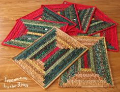 Lots of log cabin placemats at Freemotion by the River