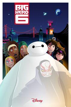 Official artwork for Disney´s Big Hero 6 - collaboration with Truong Vu Pham Kid Movies, Cartoon Movies, Movie Characters, Cartoon Network Adventure Time, Adventure Time Anime, Baymax, Hiro Big Hero 6, Hero 6 Movie, Princesa Tiana