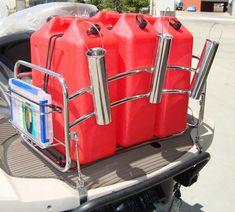 Jetski Fishing Rack With 6 Rod Holders For Yeti Coolers