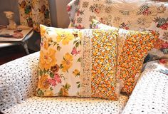 Sweetness ~ homemade vintage inspired pillows