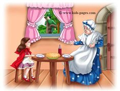 One lovely spring day, Little Red Riding Hood set out to visit her grandmother who lived in the woods.