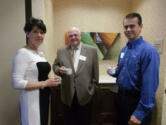 Janet Cramb (Janet Cramb & Company Real Estate), David Gavin (Stainless Steel Coatings, Inc.) and Gary Archer (Archer's Mobil) at a Fidelity Bank Breakfast