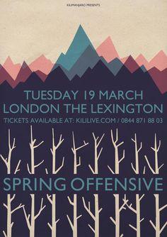Spring Offensive gig poster Designed by Parkin (parkinparkin.tumblr.com)