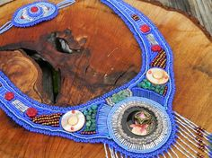 Handmade Bead Embroidery Necklace by ncbeadsnbags