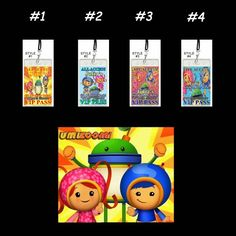 Team Umizoomi Set of 12 VIP Party Invitation Passes or Party Favors