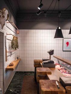 Retail Interior, Cafe Interior, Shop Interior Design, Butcher Store, Local Butcher Shop, Butcher Block Restaurant, Chicken Hut, Carnicerias Ideas, Meat Store
