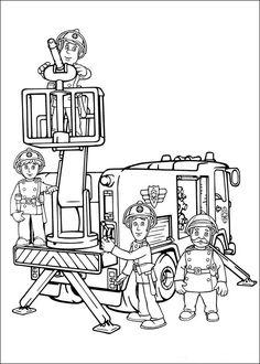 Tegninger til Farvelægning Brandmand Sam 2