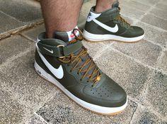 Olive green Nike Air Force 1